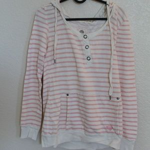Roxy Striped Hoodie Sweater